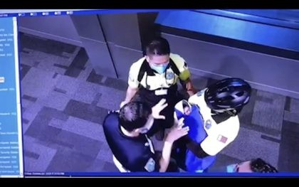 This image made from the Oct. 2, 2020, surveillance camera footage obtained by the website Doha News shows officials care for an abandoned baby at Hamad International Airport in Doha, Qatar. Qatar apologized Wednesday, Oct. 28, 2020, after authorities forcibly examined female passengers from a Qatar Airways flight to Sydney …