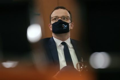 In this file photo dated Wednesday, Oct. 21, 2020, German Health Minister Jens Spahn attends the weekly government cabinet meeting at the chancellery in Berlin. Spahn said Friday Oct. 30, 2020, that World Health Organisation (WHO) should receive more political support and financial backing for its international efforts to manage …