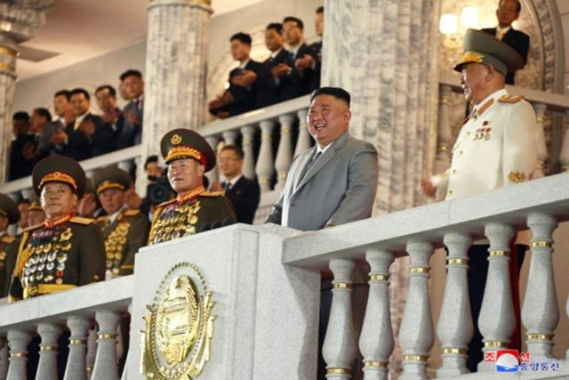 North Korea unveils large new missile at parade