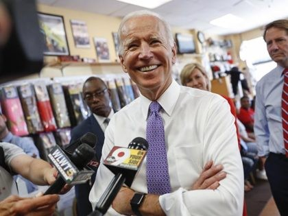 FILE - In this June 29, 2018, file photo, former Vice President Joe Biden speaks to the media in Cincinnati. Dick Harpootlian, a longtime fixture in South Carolina's Democratic political circles announced Wednesday, Aug. 1, that he's getting a campaign boost from one of the party's top dogs. In an …