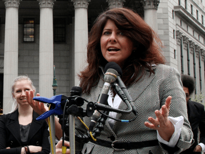 "In this March 29, 2012, file photo, author and political consultant Naomi Wolf speaks to reporters during a news conference in New York. Wolf says she has no hard feelings about the BBC interviewer who pointed out errors in her new book, ""Outrages,"" which has been delayed for release in …"