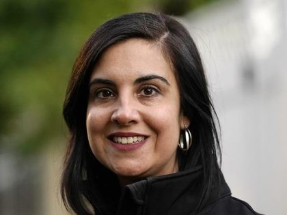 Republican New York state Assemblywoman Nicole Malliotakis poses for a portrait while seeking voter support in a neighborhood on the Staten Island borough of New York, Thursday, Oct. 8, 2020. Malliotakis is trying to unseat U.S. Rep. Max Rose, D-N.Y., a 33 year-old Army veteran who served in Afghanistan, in …