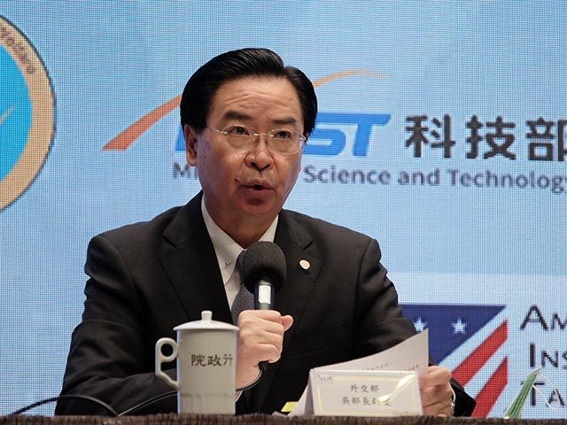 Taiwan's Foreign Minister Joseph Wu speaks during a press conference with American Institute in Taiwan director Brent Christensen, in Taipei, Saturday, Nov. 21, 2020. The U.S. and Taiwan are stepping up cooperation in a newly created economic dialogue, in another move from the outgoing Trump administration to increase official exchanges …