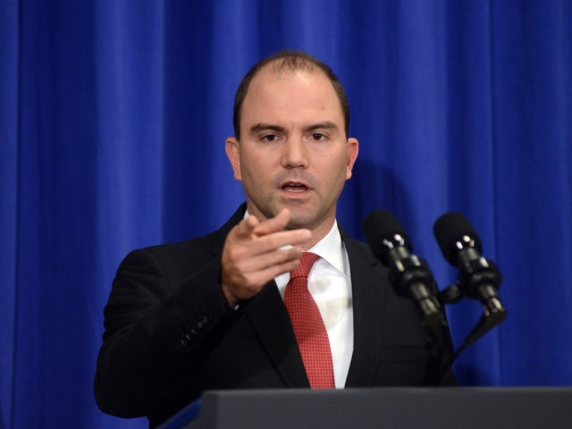EDGARTOWN, MA - AUGUST 22: White House Deputy National Security Advisor Ben Rhodes addresses the media at the Edgartown School on August 22, 2014 in Edgartown, Martha's Vineyard, Massachusetts. Asked about the beheading of journalist James Foley, Rhodes said it represented a terrorist attack. (Photo by Darren McCollester/Getty Images)