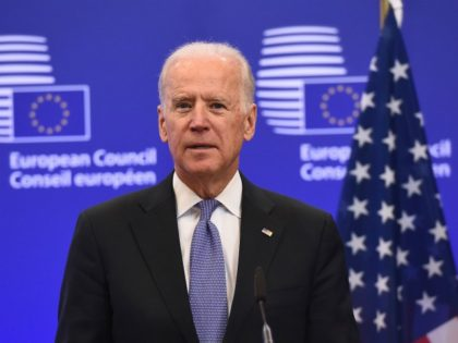 US Vice President Joe Biden speaks while meeting with European Union President on February 6, 2015 at the EU Headquarters in Brussels. Ukraine is battling to survive in the face of escalating Russian involvement and needs the EU and US to stand together, Biden said during a visit to Brussels. …