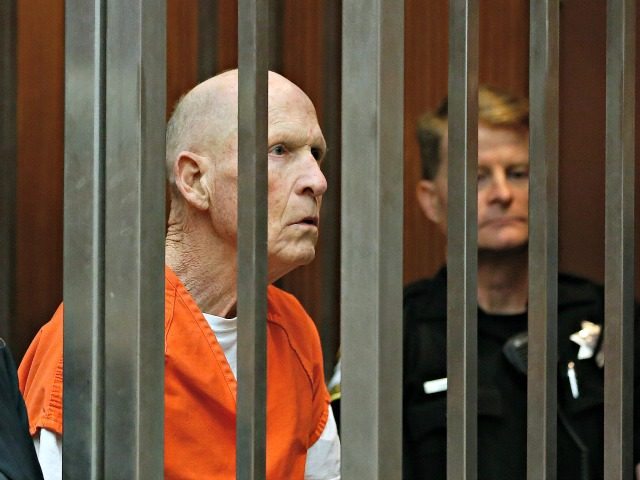 Joseph James DeAngelo, suspected of being the Golden State Killer, appears in Sacramento County Superior Court as prosecutors announce they will seek the death penalty if he is convicted in the case, Wednesday, April 10, 2019, in Sacramento, Calif. The move comes less than a month after Gov. Gavin Newsom …