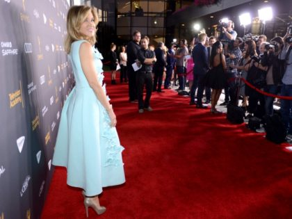 Felicity Huffman arrives at the Performers Nominee Reception presented by the Television Academy at the Pacific Design Center on Friday, Sept. 16, 2016, in West Hollywood, Calif. (Photo by Jordan Strauss/Invision for the Television Academy/AP Images)