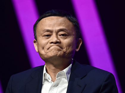 Jack Ma, CEO of Chinese e-commerce giant Alibaba, speaks during his visit at the Vivatech startups and innovation fair, in Paris on May 16, 2019. (Photo by Philippe LOPEZ / AFP) (Photo credit should read PHILIPPE LOPEZ/AFP via Getty Images)