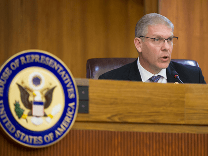 Rep. Barry Loudermilk (R-GA) speaks during the Elections Subcommittee field hearing on 'Voting Rights and Election Administration in Florida' at the Broward County Governmental Center on May 06, 2019 in Fort Lauderdale, Florida. The subcommittee is visiting different parts of the country examining voting rights, as well as evidence of …