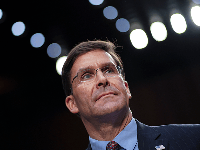 U.S. Secretary of Defense Mark Esper testifies during a Senate Armed Services Committee hearing concerning the Department of Defense budget in the Hart Senate Office Building on March 4, 2020 in Washington, DC. Esper and Milley testified about the Defense Authorization Request for Fiscal Year 2021 and the Future Years …