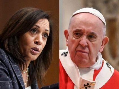 Kamala Harris and Pope Francis