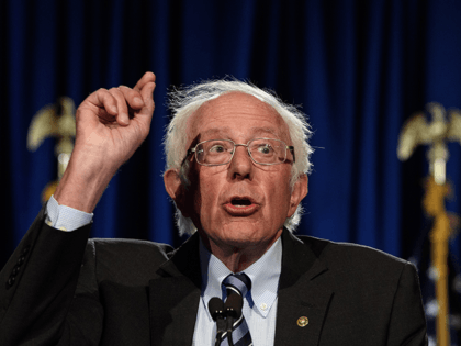 "US Senator Bernie Sanders, Independent of Vermont, speaks at George Washington University in Washington, DC, on September 24, 2020. - Sanders warned that the US faces an ""unprecedented and dangerous moment,"" as US President Donald Trump questions the legitimacy of mail-in ballots and suggests he might not accepts the election …"