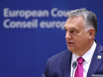 Hungary's Prime Minister Viktor Orban attends the face-to-face EU summit in Brussels, on October 15, 2020. (Photo by YVES HERMAN / POOL / AFP) (Photo by YVES HERMAN/POOL/AFP via Getty Images)