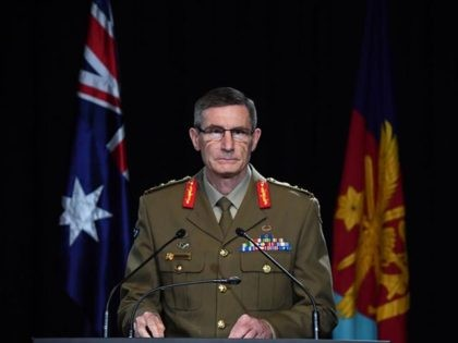 CANBERRA, AUSTRALIA - NOVEMBER 19: Chief of the Australian Defence Force (ADF) General Angus Campbell delivers the findings from the Inspector-General of the Australian Defence Force Afghanistan Inquiry on November 19, 2020 in Canberra, Australia. A landmark report has shed light on alleged war crimes by Australian troops serving in …