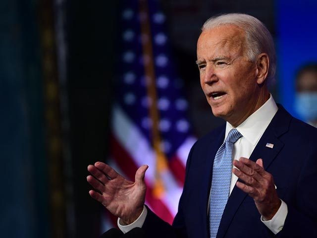 WILMINGTON, DE - NOVEMBER 24:  President-elect Joe Biden introduces key foreign policy and national security nominees and appointments at the Queen Theatre on November 24, 2020 in Wilmington, Delaware. As President-elect Biden waits to receive official national security briefings, he is announcing the names of top members of his national security …