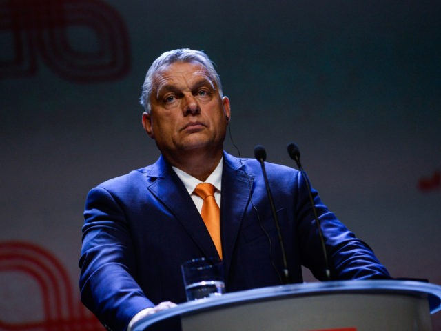 LUBLIN, POLAND - SEPTEMBER 11: The Prime Minister of Hungary, Viktor Orban takes part on a press conference during the Visegrad Summit at the Centre for the Meetings of Culture on September 11, 2020 in Lublin, Poland. The heads of state of Poland, Hungary, Slovakia and the Czech Republic have …