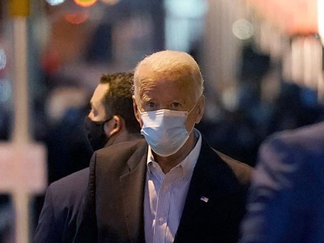 WILMINGTON, DELAWARE - NOVEMBER 05: Democratic presidential nominee Joe Biden walks out of The Queen theater on November 05, 2020 in Wilmington, Delaware. Biden attended internal meetings with staff as votes are still being counted in his tight race against incumbent U.S. President Donald Trump which remains too close to …
