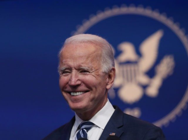 WILMINGTON, DELAWARE - NOVEMBER 10: U.S. President-elect Joe Biden addresses the media about the Trump Administration's lawsuit to overturn the Affordable Care Act on November 10, 2020 at the Queen Theater in Wilmington, Delaware. Mr. Biden also answered questions about the process of the transition and how a Biden Administration …