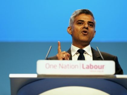 Sadiq Khan, British Shadow Secretary of State for Justice and Shadow Lord Chancellor, delivers his speech during the final day of the Labour party conference in Brighton, east Sussex, south England, on September 25, 2013. AFP PHOTO / ADRIAN DENNIS (Photo credit should read ADRIAN DENNIS/AFP via Getty Images)