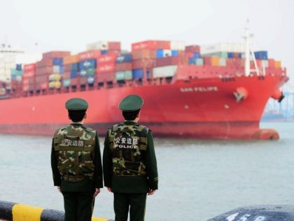 China's trade surplus with the United States narrowed for a second month in a row in February, dropping to 21 billion USD, official data showed on March 8, amid rising trade tensions with the Trump administration. / AFP PHOTO / - / China OUT (Photo credit should read -/AFP via …