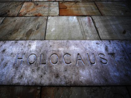 The inscription Holocaust is seen at the Holocaust Memorial Center, first central Europe's Holocaust museum, in Budapest on April 16, 2019 prior to the Holocaust memorial day. - April 16 marks the 75th anniversary of the beginning of the Hungarian Holocaust during which some 600,000 Jewish Hungarians were deported to …