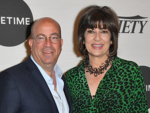 Jeff Zucker Christiane Amanpour (Angela Weiss / AFP via Getty)