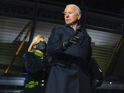 Joe Biden startled in Pennsylvania (Jim Watson / AFP / Getty)