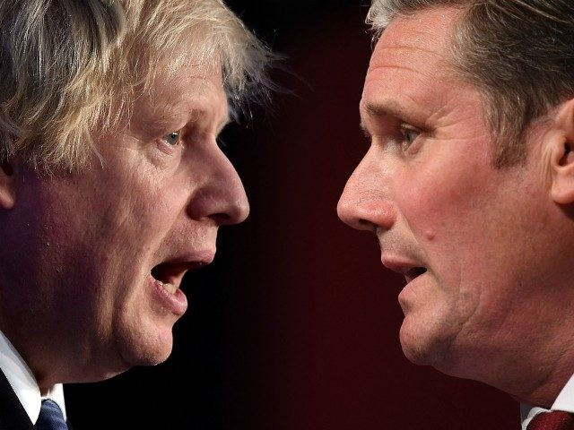 FILE PHOTO (EDITORS NOTE: COMPOSITE OF IMAGES - Image numbers 1064755202, 1170487933 - GRADIENT ADDED) In this composite image a comparison has been made between the Prime Minister Boris Johnson and the leader of the opposition and Labour Leader Keir Starmer. ***LEFT IMAGE*** BELFAST, NORTHERN IRELAND - NOVEMBER 24: Conservative …