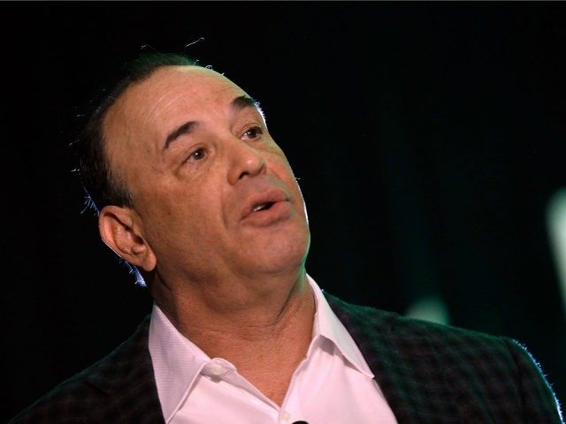 "Nightclub & Bar Media Group President and host and Co-Executive Producer of the Spike television show ""Bar Rescue"" Jon Taffer speaks onstage during a keynote address during the 28th annual Nightclub & Bar Convention and Trade Show at the Las Vegas Convention Center on March 21, 2013 in Las Vegas, …"