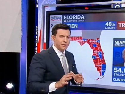 Tom Llamas during 11/3/2020 ABC election coverage