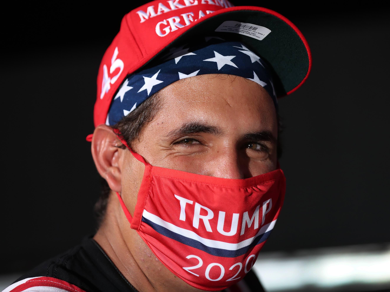 MAGA mask Miami (Joe Raedle / Getty)