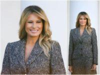 Fashion Notes: Melania Trump Wears Houndstooth Dolce and Gabbana for Turkey Pardon