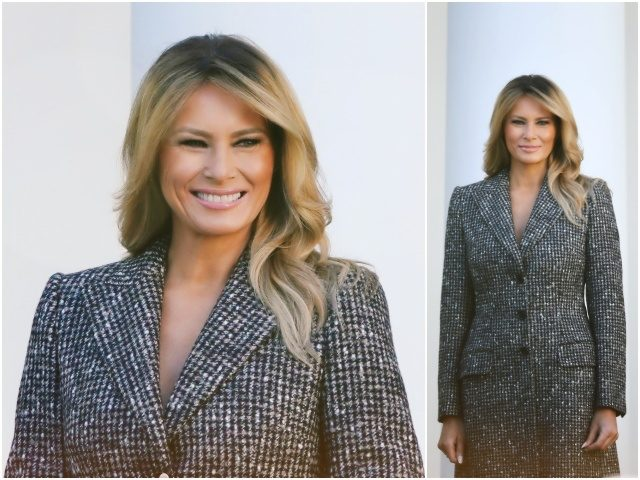 Fashion Notes: Melania Trump Wears Houndstooth Dolce and Gabbana for Turkey Pardon
