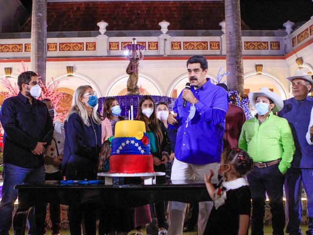Socialism: Maduro Marks Birthday with Giant Venezuelan Flag Cake as His People Starve