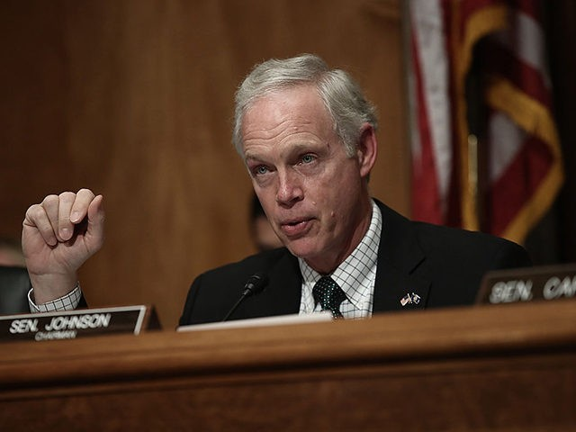 """WASHINGTON, DC - JUNE 07: Committee Chairman Sen. Ron Johnson (R-WI) questions Peter Neffenger, administrator of the Transportation Security Administration, during Neffenger's testimony before the Senate Homeland Security and Governmental Affairs Committee June 7, 2016 in Washington, DC. The committee heard testimony on the topic """"Frustrated Travelers: Rethinking TSA Operations …"""