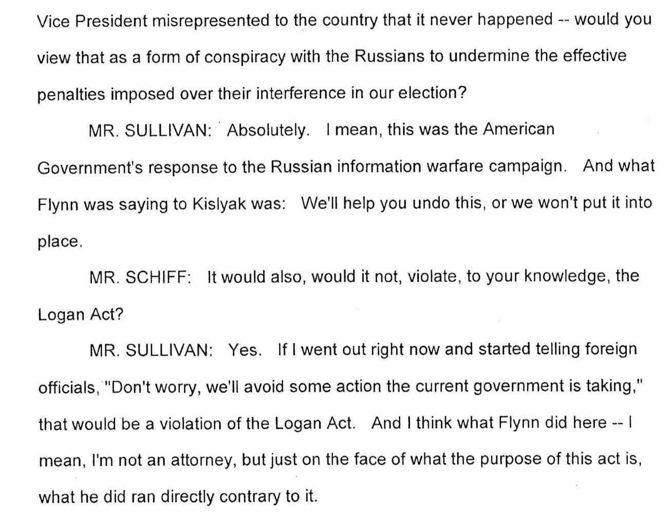 Jake Sullivan accuses Flynn (Transcript)