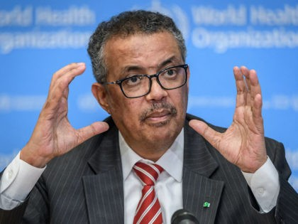 EDITORS NOTE: Graphic content / World Health Organization (WHO) Director-General Tedros Adhanom Ghebreyesus talks during a daily press briefing on COVID-19 virus at the WHO headquaters in Geneva on March 11, 2020. - WHO Director-General Tedros Adhanom Ghebreyesus announced on March 11, 2020 that the new coronavirus outbreak can now …