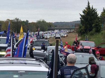 Trump caravan parkway