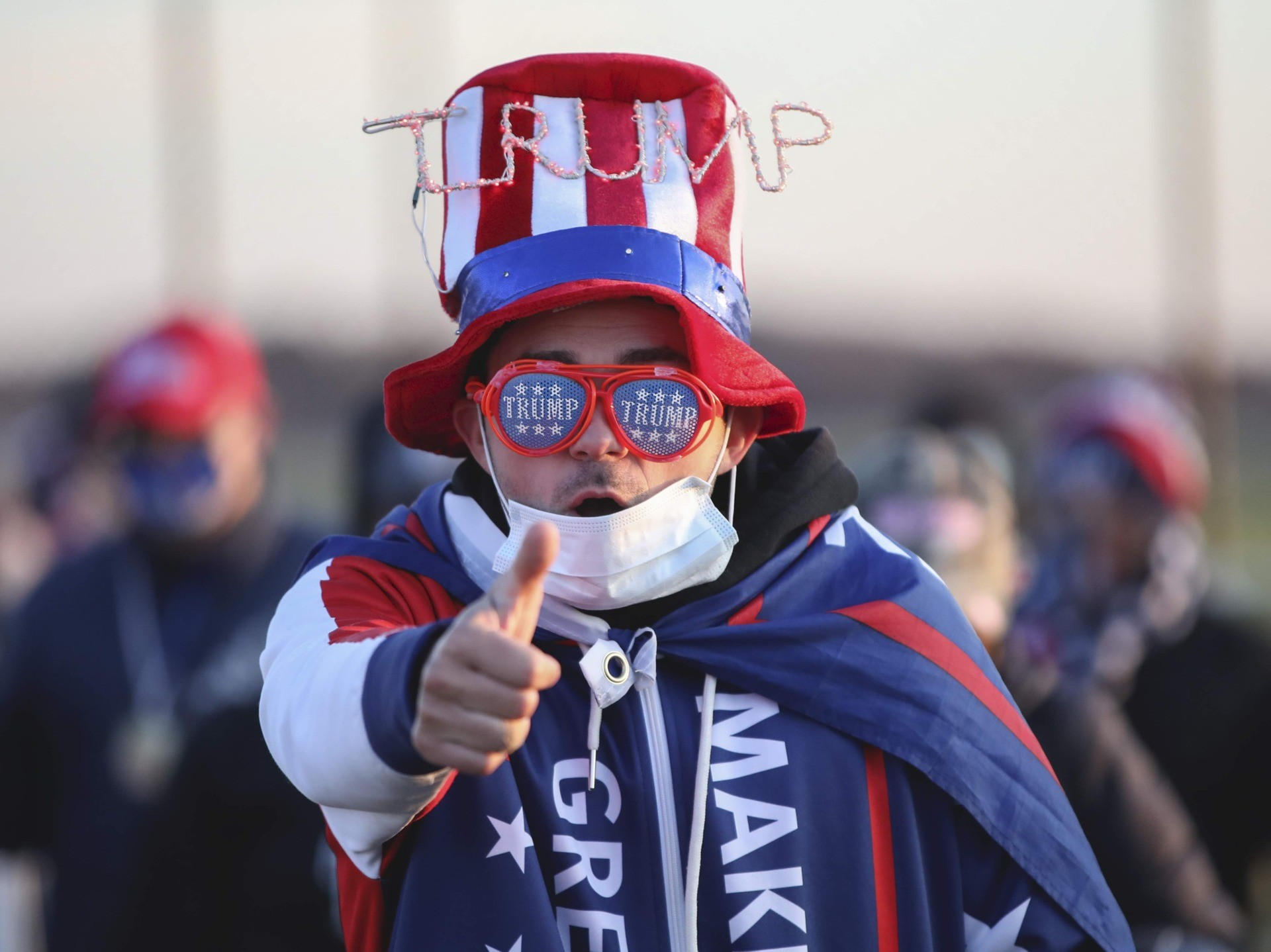 Trump dude Grand Rapids (Kamil Krzaczynski / Getty)