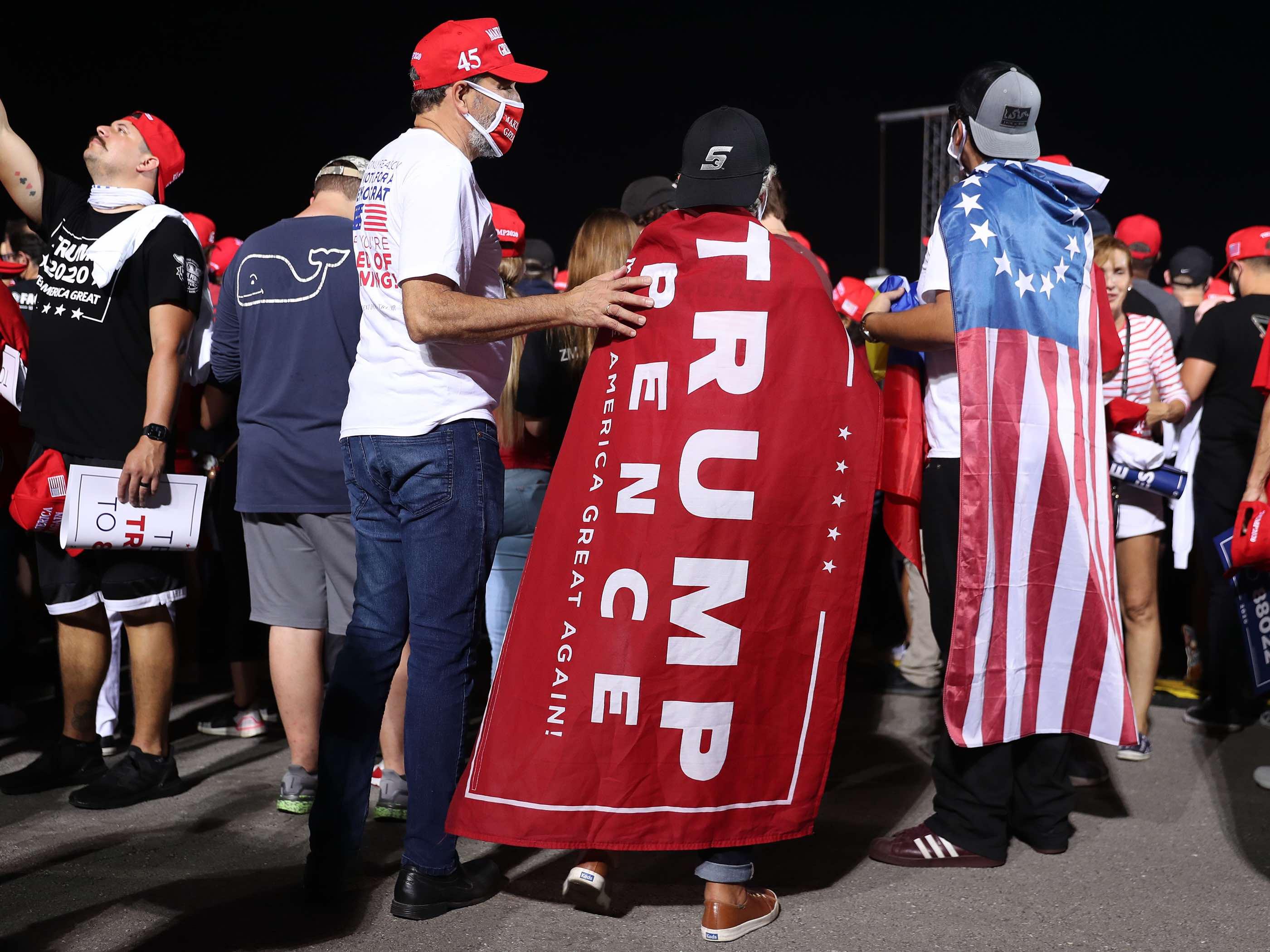 Trump flags Miami (Joe Raedle / Getty)