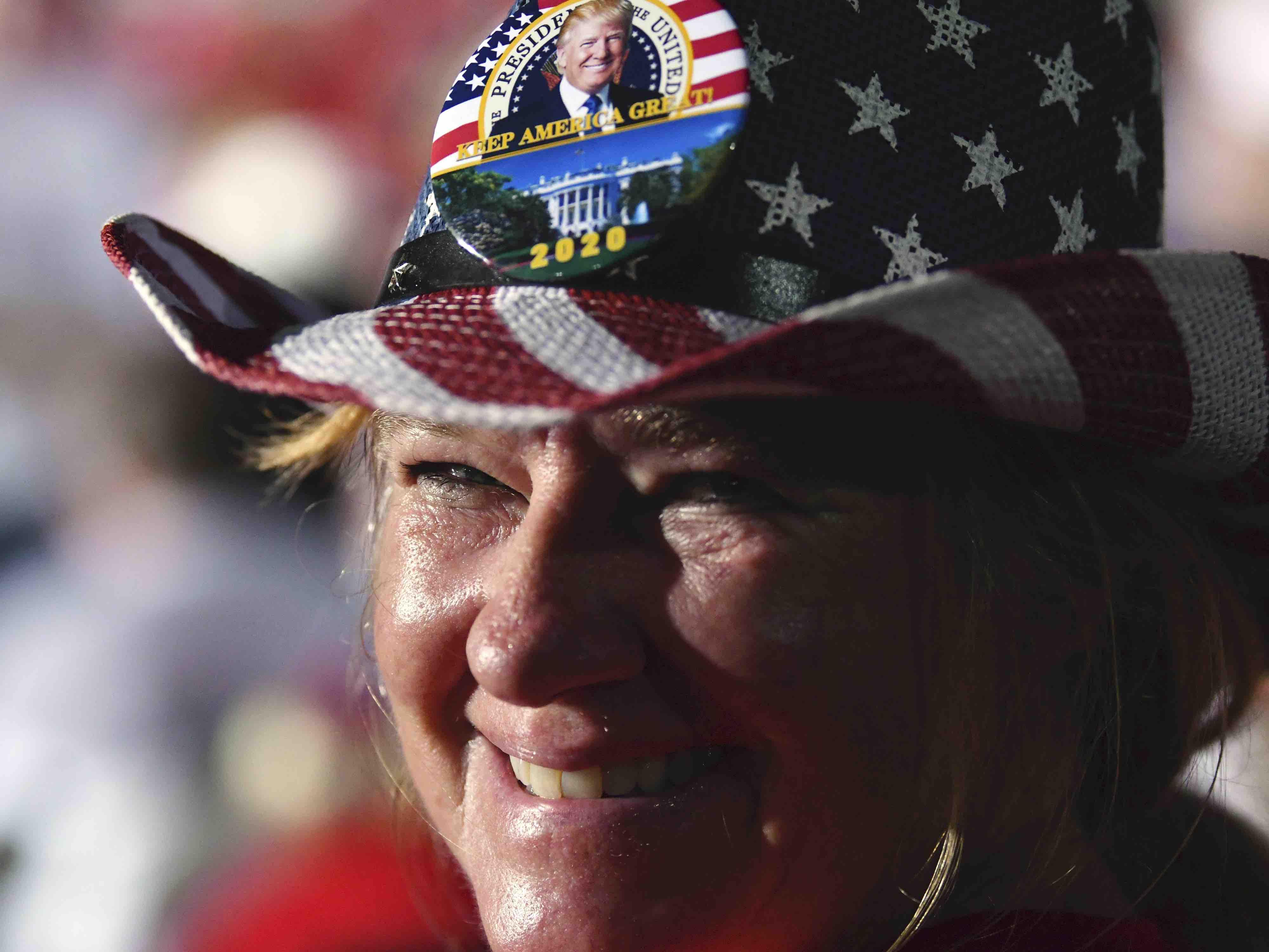 Trump supporter Miami (Jim Rassol / Associated Press)