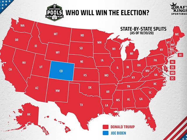 Trump victory map