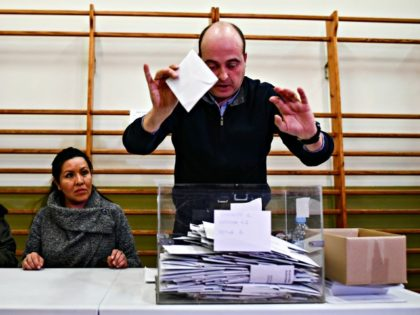 BARCELONA, SPAIN - DECEMBER 21: The counting of ballot papers gets underway in the Catalan Regional Parliament election at a polling station on December 21, 2017 in Barcelona Spain. Catalan voters went to the polls today to elect a new regional government, with a choice to vote for pro-separatist parties …