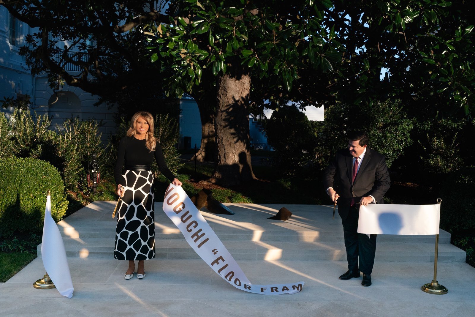 Fashion Notes: Melania Trump Unveils New Rose Garden Art in Bold Valentino - WH2