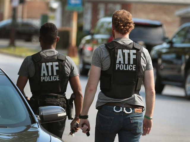 CHICAGO, IL - JUNE 16: ATF police investigate a shooting that occurred on the playground at Joseph Warren Elementary School on June 16, 2017 in Chicago, Illinois. Two girls, reported to be 7 and 12-years-old, were hit by bullets fired from a passing car as they participated in an end …