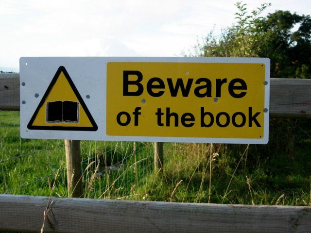 banned book sign
