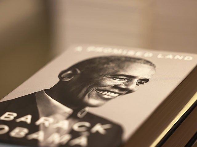 "NEW YORK, NEW YORK - NOVEMBER 17: Former President Barack Obama's memoir is seen on display at the Greenlight Bookstore in the Flatbush neighborhood of Brooklyn on November 17, 2020 in New York City. ""A Promised Land"" is the first of two memoirs written by former President Obama. (Photo by …"