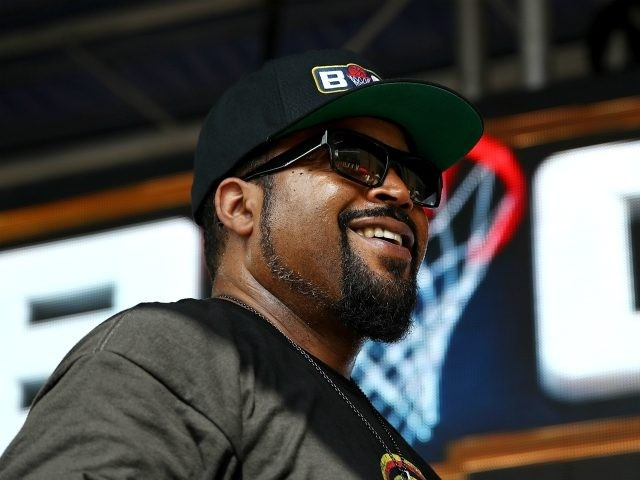 HOUSTON, TX - JUNE 22: Entertainer Ice Cube, performs during week one of the BIG3 three on three basketball league at Toyota Center on June 22, 2018 in Houston, Texas. (Photo by Ronald Martinez/BIG3/Getty Images)