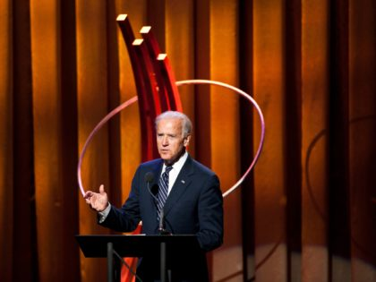 NEW YORK - SEPTEMBER 25: Vice President Joe Biden speaks during the Clinton Global Citizen Award ceremony on September 25, 2013 in New York City. Timed to coincide with the United Nations General Assembly, CGI brings together heads of state, CEOs, philanthropists and others to help find solutions to the …