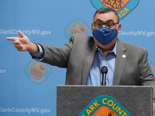 NORTH LAS VEGAS, NEVADA - NOVEMBER 07: Clark County Registrar of Voters Joe Gloria discusses ballot counting at a news conference at the Clark County Election Department on November 7, 2020 in North Las Vegas, Nevada. Joe Biden won Pennsylvania and Nevada and was declared the winner in the presidential …
